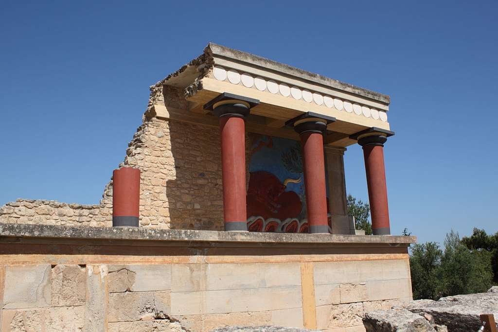 Rekonstruktion in Knossos