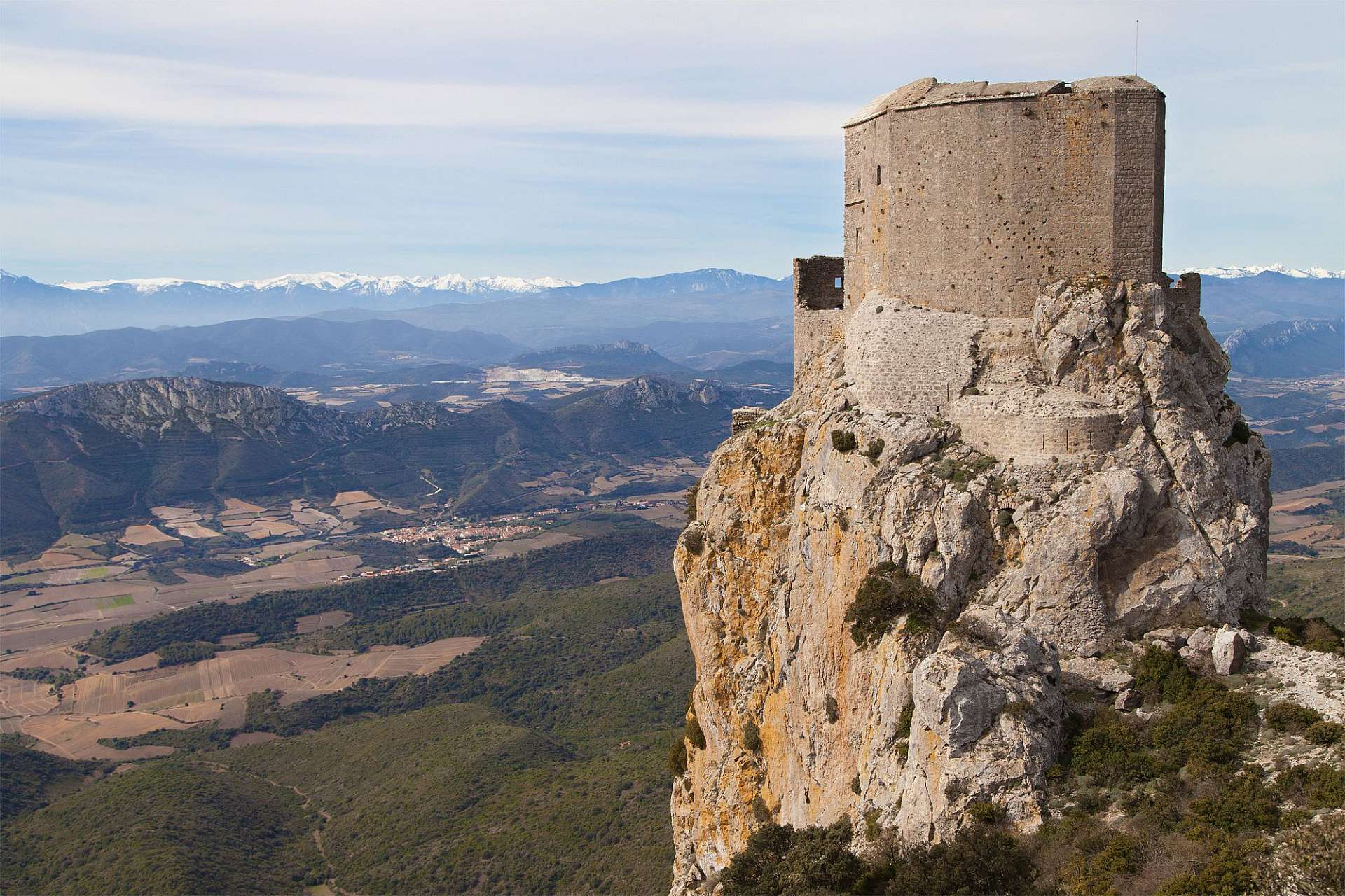 Last bastion of the Cathar: Castle Queribus