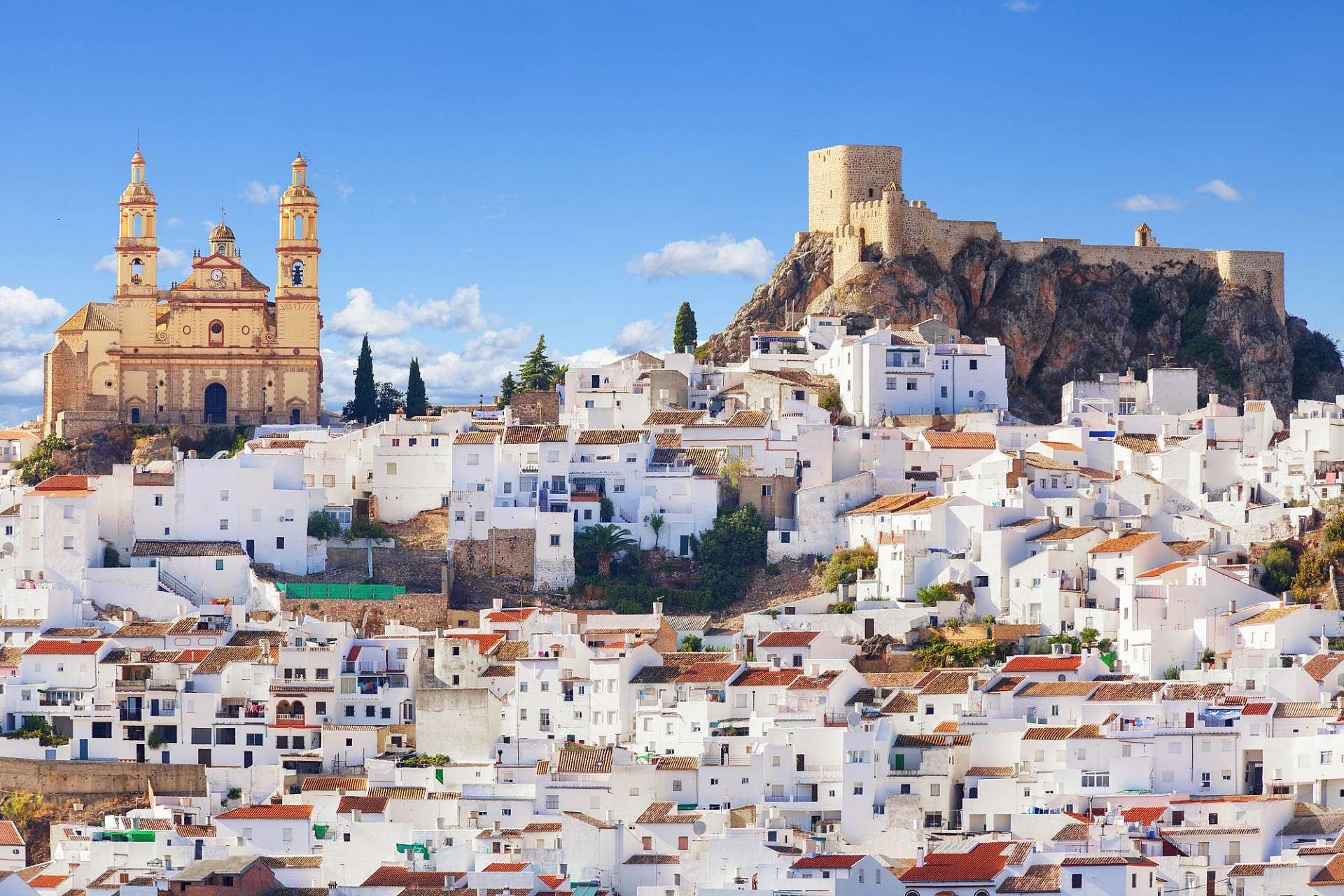 White town: Olvera at the foot of the Sierra Grazalema