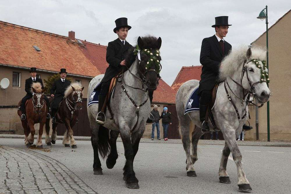 Customs in Upper Lusatia: Sorbian Easter Rider