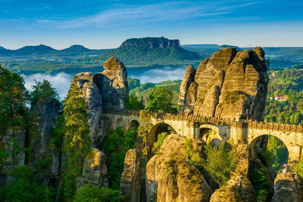 Wild and romantic: Bastion in the Elbe Sandstone Mountains