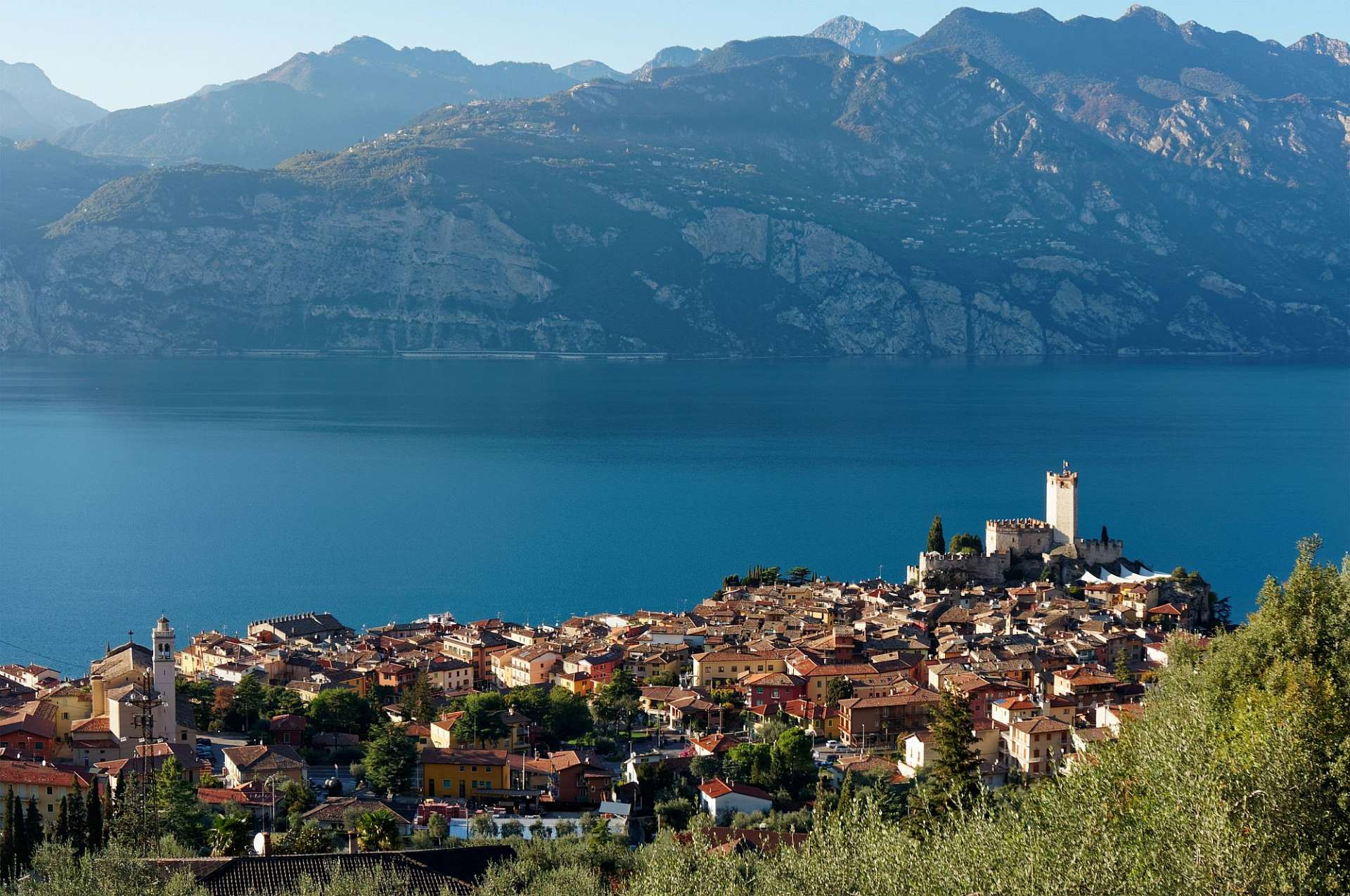 Malcesine overlooking Lake Garda