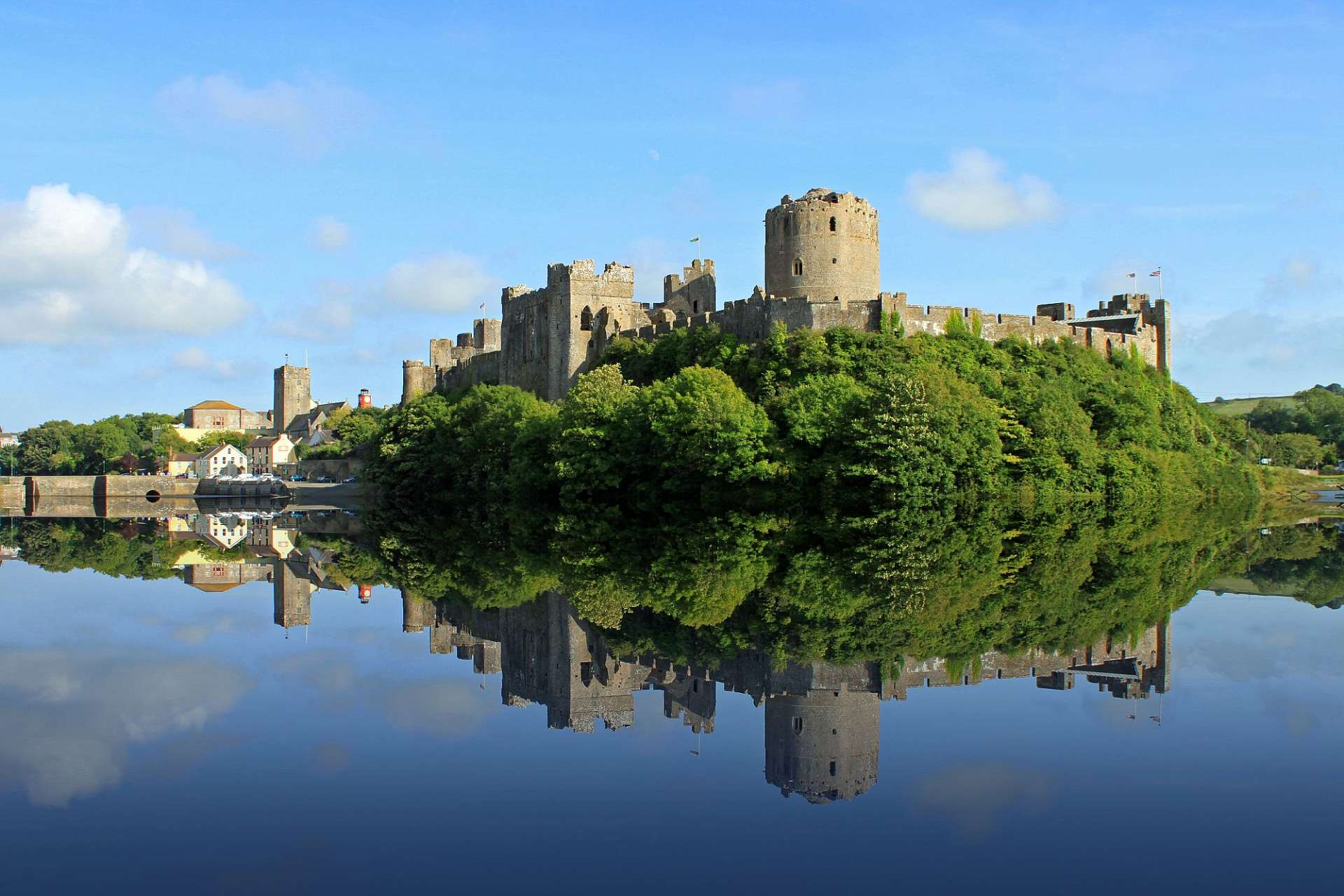Norman castles in an idyllic setting: Pembrokeshire