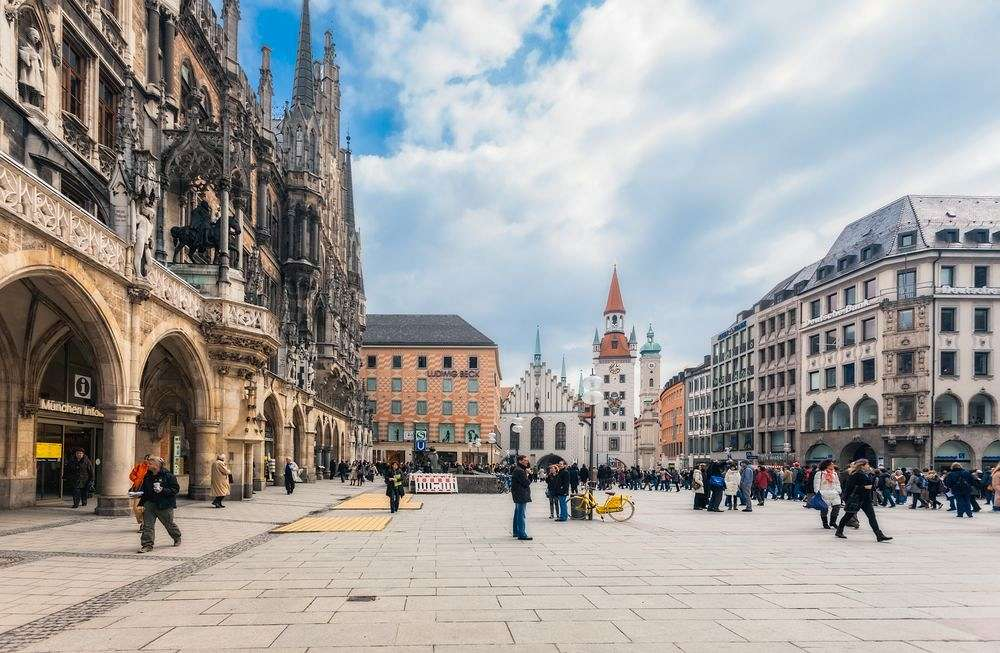 Centre of Munich: Marienplatz