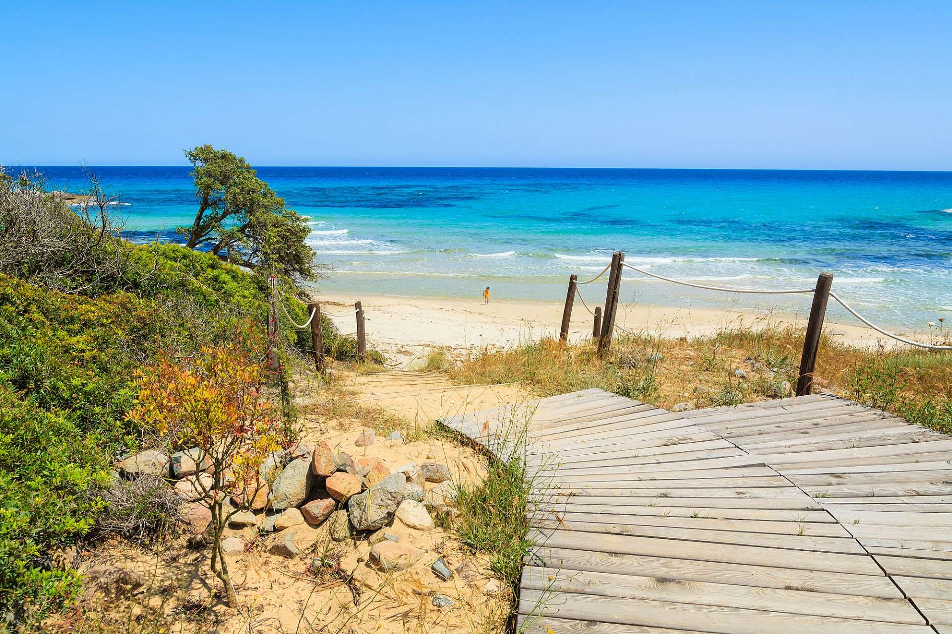 Natural sandy beaches: Costa Rei