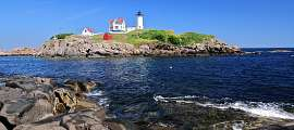 Cape Neddick Lighthouse auf Nubble Island, Main