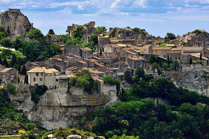 Nestled on the mountainside: A Provence village