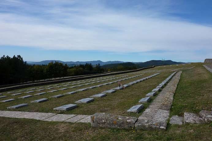 On the Futa Pass: largest German military cemetery in Italy
