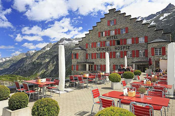 On the northern side of the Grimsel Pass: The Grimsel Hospiz