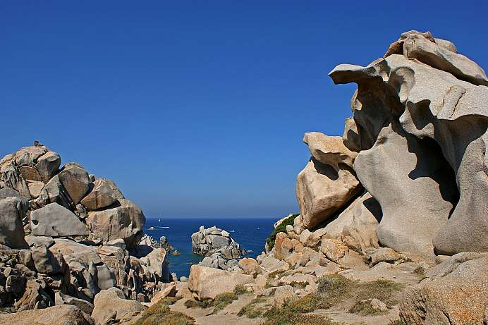 Bizarre rock formations and turquoise waters: Capo Testa