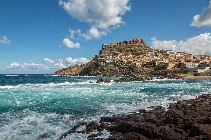 At the foot of the castle: Castelsardo
