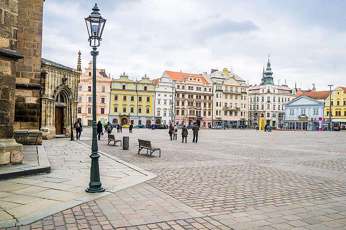 Little Prague: Republic Square in Pilsen