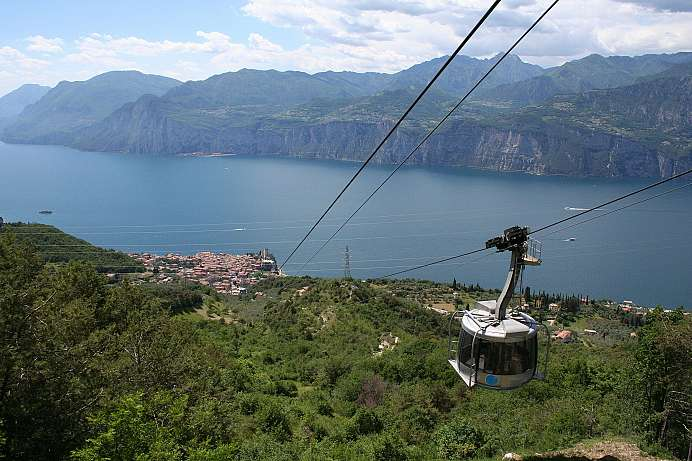 With the cable car to the top of Monte Baldo