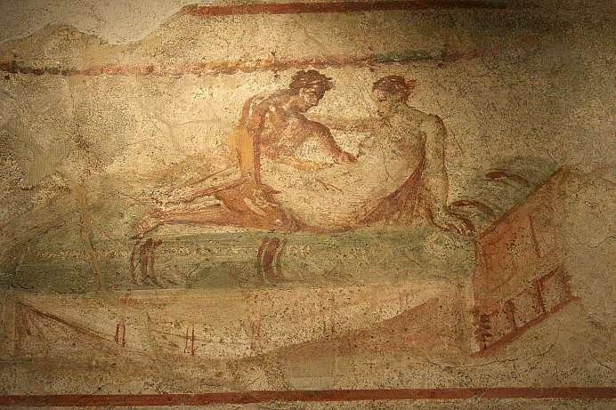 Blazing sensuality: Mural at Pompeii