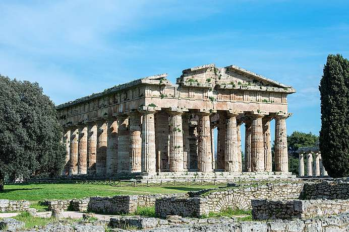 Time journey into antiquity: Neptune Temple of Paestum