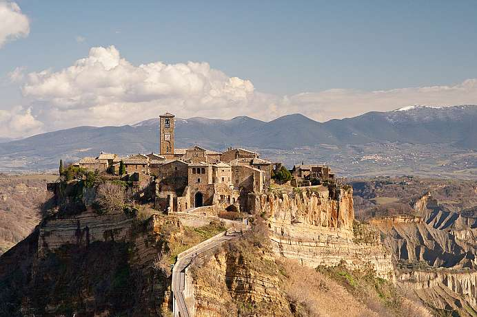 On the rocks: Artists' village Civita Bagnoregio