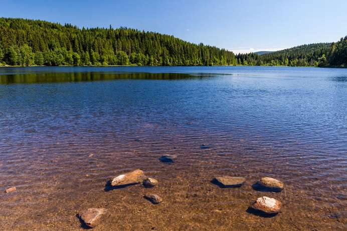 The largest lake in the Black Forest