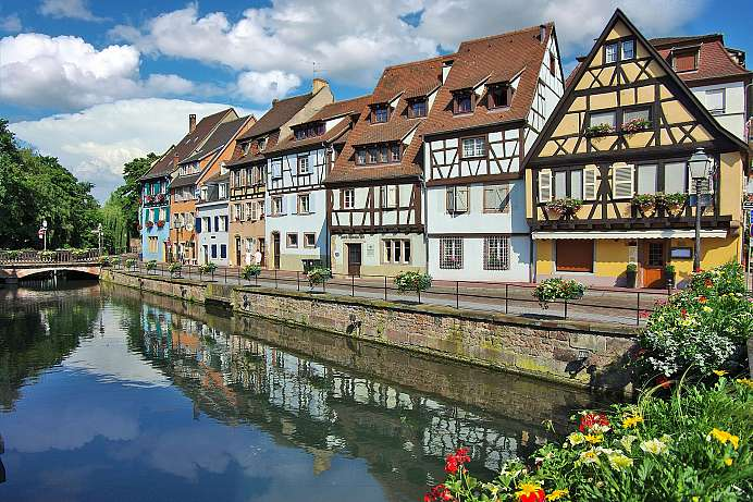 Idyllic timber-framed houses on the Lauch: Colmar