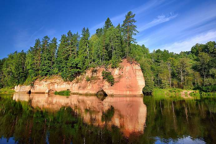 Urwälder am Gauja-Fluss: Gauja Nationalpark