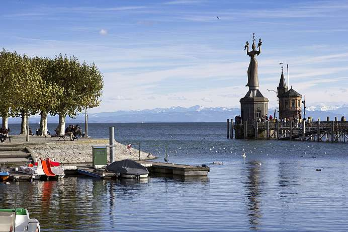 Harbor entrance with Imperia: Konstanz