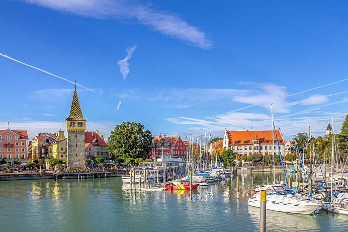 On an island in Lake Constance: Lindau