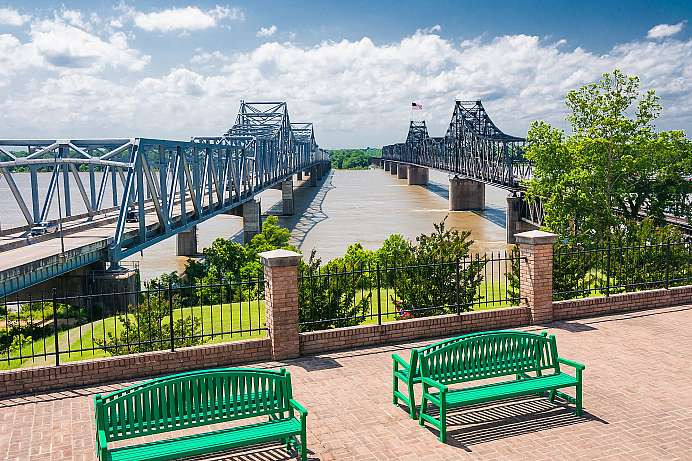 Mississippi River Bridge bei Vicksburg
