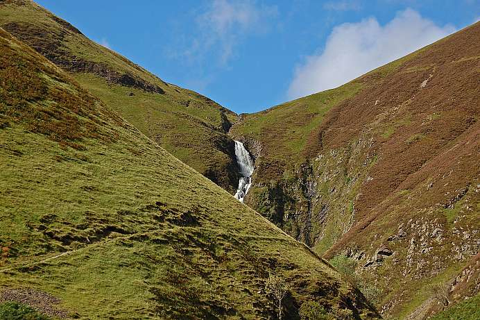 On the trail to Loch Skeen: Grey Mare's Tail