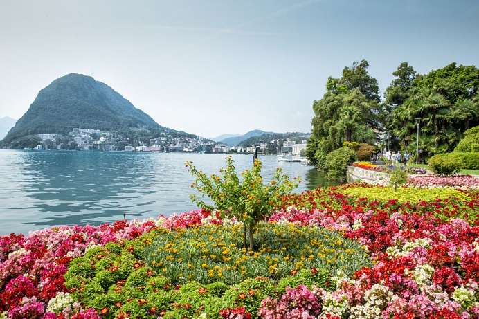 Lugano: Park on the lake