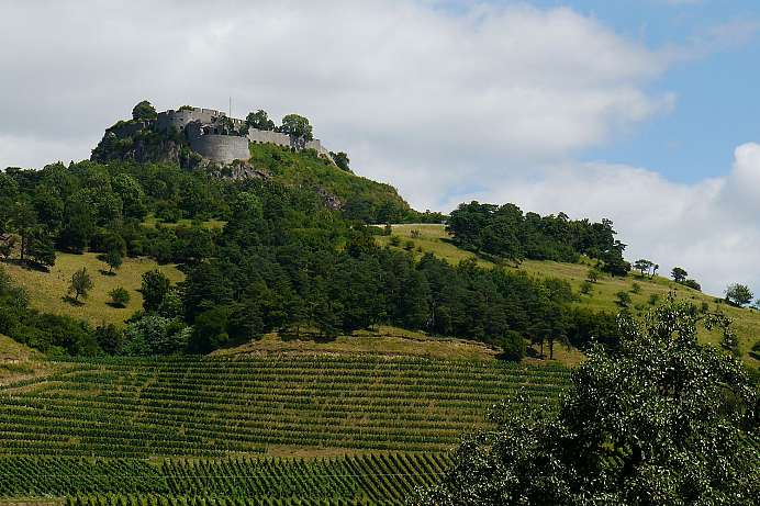 Panorama mountain with fortress : Hohentwiel