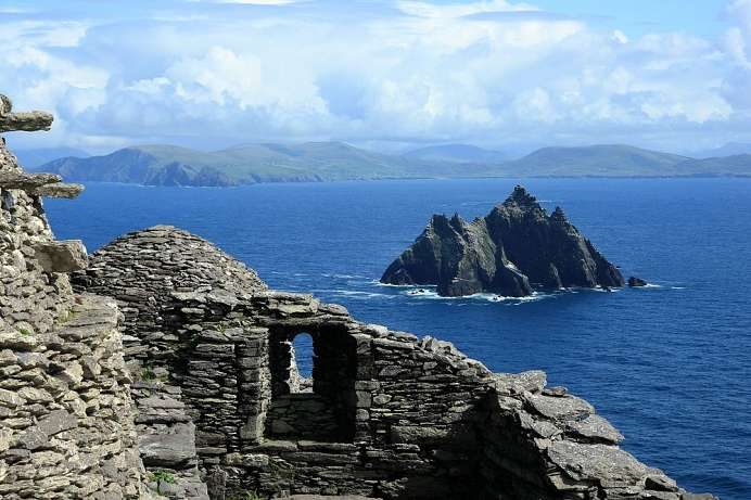 Blick von Skellig Michael nach Little Skellig