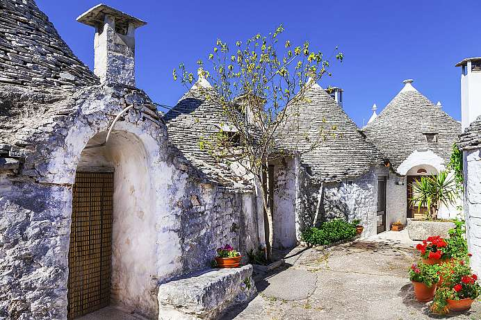 Traditionelle Trulli Hütten