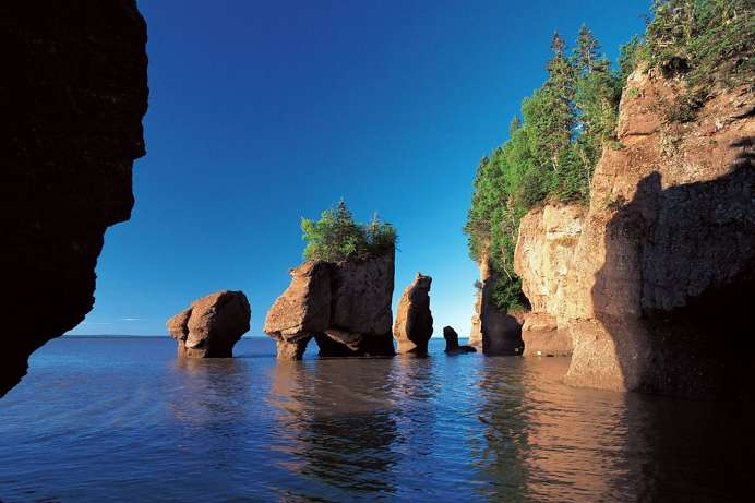 Erosion durch starke Gezeiten: Fundy National Park
