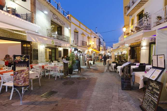 Whitewashed and closed to traffic: Nerja