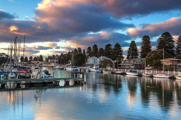 An der Great Ocean Road: Port Fairy