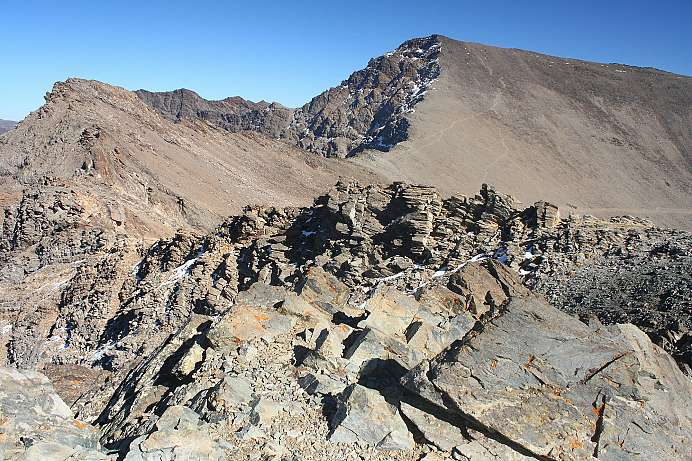 Highest mountain in Spain: Pico de Mulhacén