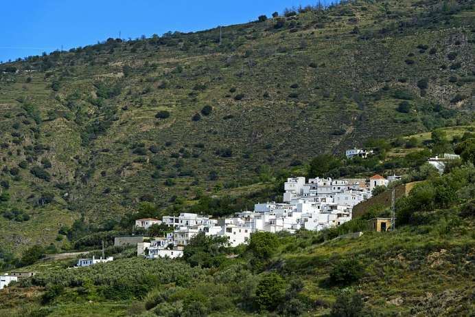 Nestled into the mountain: Pampaneira