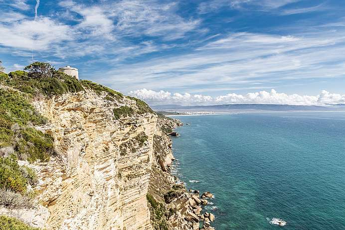 A trail with a view: Coastal cliffs near Barbate