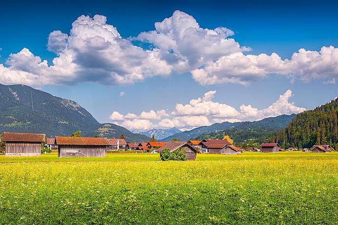 Picturesque farming village: Garmisch-Partenkirchen