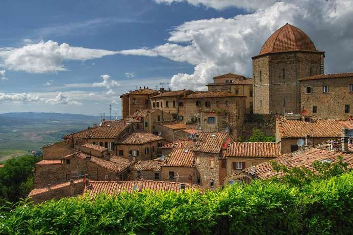 Visible for miles: Volterra