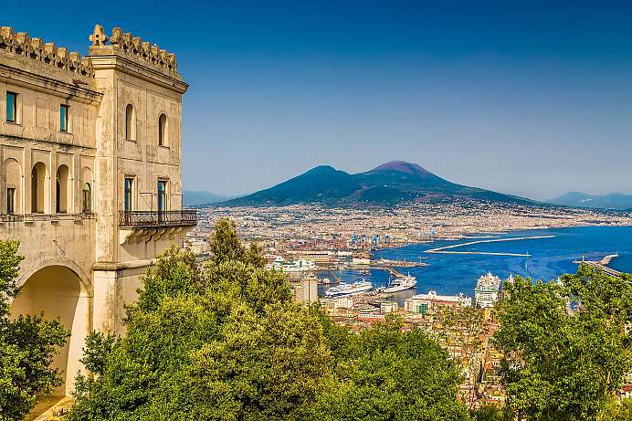 Amazing view of the Gulf of Naples: Vomero