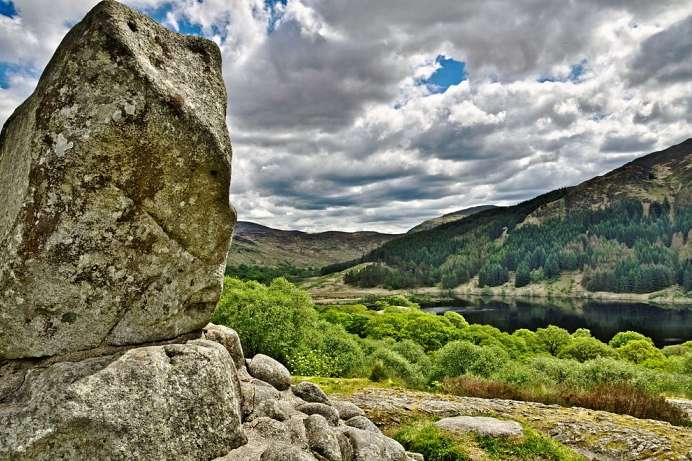 Bruce's Stone and Loch Trool
