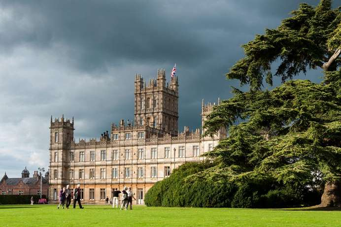 Neo-Renaissance and cedars of Lebanon: Highclere Castle