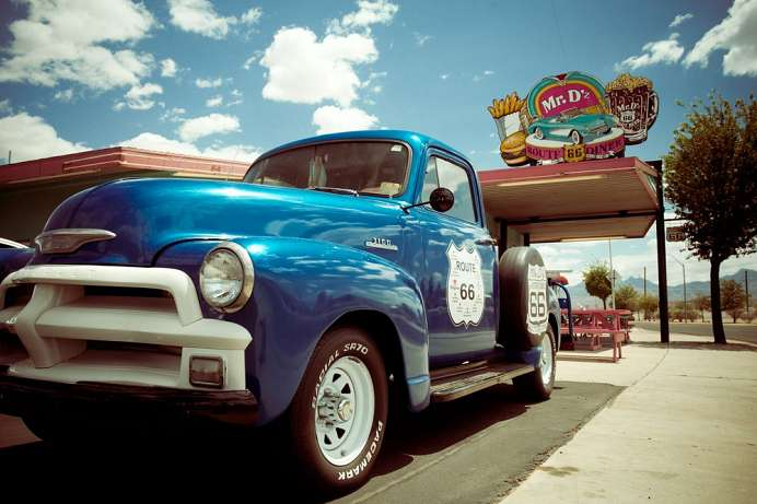Route 66 bei Kingman
