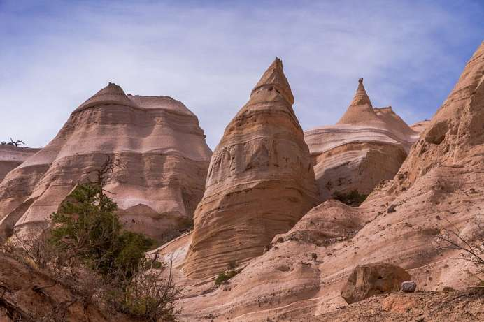 Sensationelle Landschaften: Tent Rocks in New Mexico