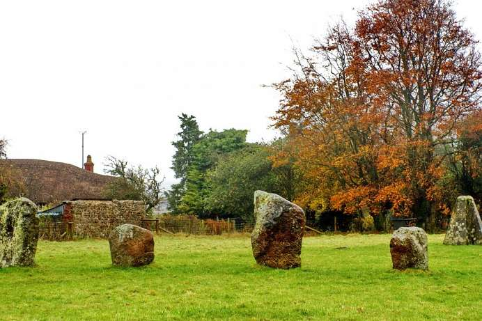 Mystical place: Prehistoric stone circle in Avebury