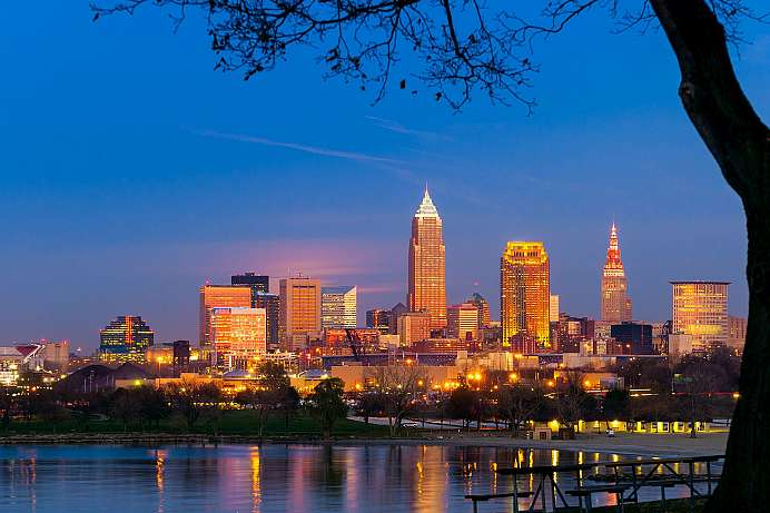 Coole Waterfront: Cleveland am Lake Erie