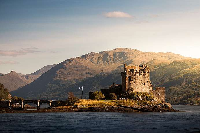 Accessible only by bridge at high tide: Eilean Donan Castle