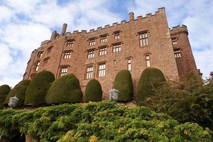 On a rocky outcrop: Powis Castle