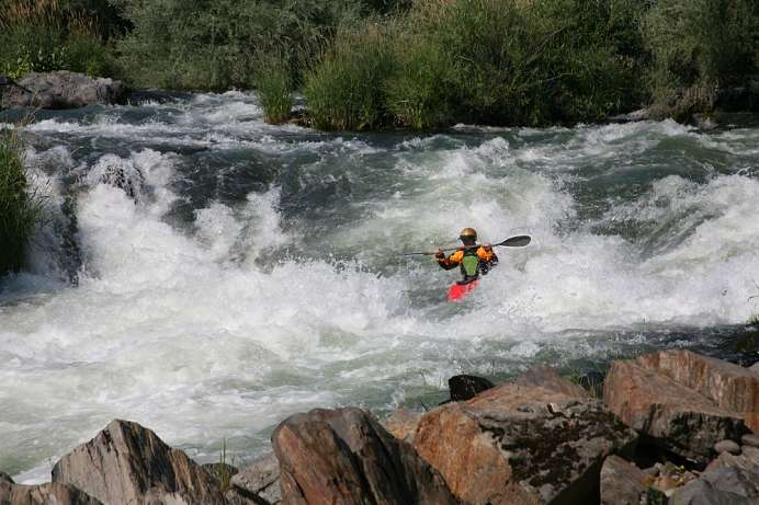 Paradies für Wassersportler: Rogue River bei Grants Pass