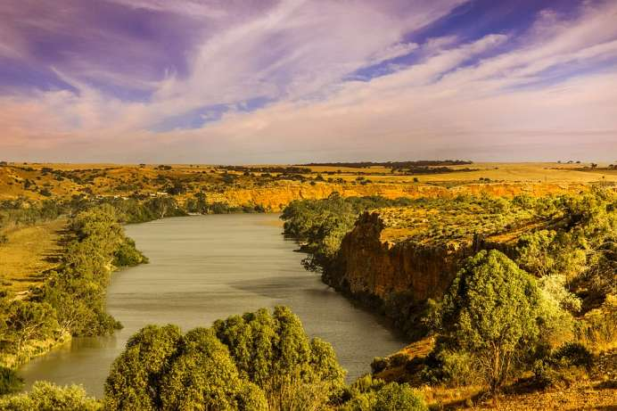 Fließt durch Südaustralien: Murray River